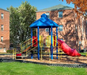 Quebec Arms apartments playground